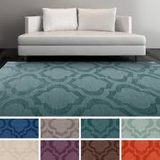 artistic weavers hand woven ali tone on tone moroccan trellis wool area rug blue geometrics pattern