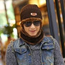 2017 Winter Beanie Women Men Fashion Solid Fur Wool Lining ...