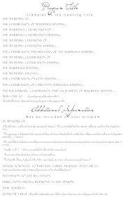 Wedding Reception Program Templates Wedding Ceremony Template