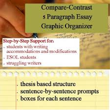compare contrast essay graphic organizer by s j brull tpt compare contrast essay graphic organizer