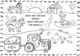 Free Colouring Sheets Farm Animals L L L L L L