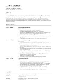 Sales Analyst Resume Senior Business Intelligence Analyst Resume Sample In Pdf