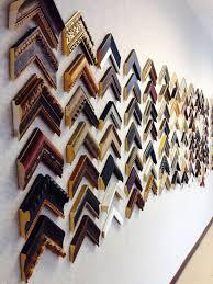 extensive framing selections in our garner showroom custom framing mirror options