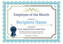 Printable Employee Of The Month Certificates Employee Of The Month Certificates Certificate Templates