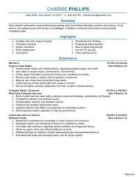 Automotive Technician Resume Diesel Mechanic Resume Sample Australia Inspirational Sel Of Auto 16