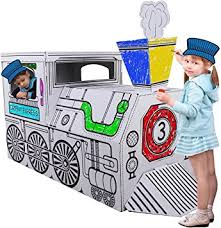 Select from 35450 printable coloring pages of cartoons, animals, nature, bible and many more. Kucuk Mimar Kartonkinder X Large Cardboard Train Build Colour And Play Amazon Co Uk Toys Games