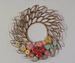 how to diy toilet paper roll flower wall art for tissue paper roll wall art 26005 on tissue paper flowers wall art with tissue paper roll wall art world of example