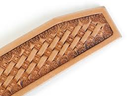 the entire belt is a basketweave stamping