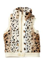 image of sugarfly spotted faux fur leather vest toddler girls