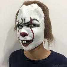 Pennywise Horor Klaun žolík Klaun Maska Cosplay Kostým Rekvizity