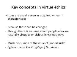 virtue ethics peter d toon ppt  key concepts in virtue ethics