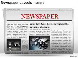 Newspaper Powerpoint Template Delectable Picture PowerPoint Templates Slides And Graphics