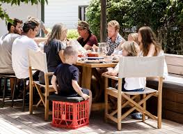 4 outdoor dining tables for large