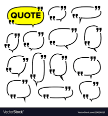 Quote Frame Set Citation Blank Template