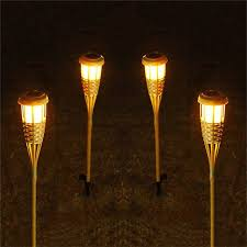 modern tiki torches tribal pattern