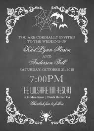 Halloween Wedding Invitations Dark And Debonair Invitations For Gothic Weddings