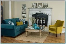 blue furniture for living room