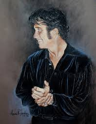 Tribute Artist Painting by Anne Rhodes