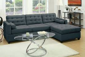 details about modern classic sectional set slate black sofa chaise living room furniture 2 piece sectional