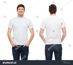 Blank White T Shirt Design Tshirt Design People Concept Smiling Young Stock Photo Edit
