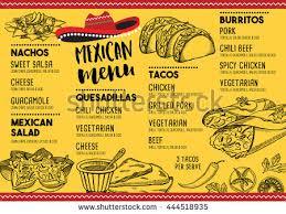 mexican food menu design. Unique Menu Mexican Menu Placemat Food Restaurant Template Design Vintage  Creative Dinner Brochure With Hand And Food Menu Design