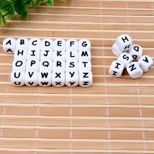 TYRY.HU 500 pieces <b>Silicone Letter Bead</b> English <b>Alphabet Letter</b> ...