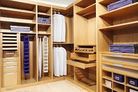 custom walk in closet design in wood