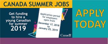 The Canada Summer Jobs Program Application Period Has Been