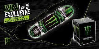 Design Monster Energy Skateboard Giveaway Gb