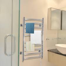 Towel warmer rack Bathroom Homcom 10 Bar Curved Stainless Steel Wall Mounted Towel Warmer Rack Walmartcom Walmart Homcom 10 Bar Curved Stainless Steel Wall Mounted Towel Warmer Rack