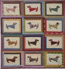 Dog Quilt Patterns Simple Quilt Pattern Hot Diggity Dog Dachshund Applique Puppy EBay