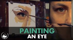 painting an eye oil painting time lapse