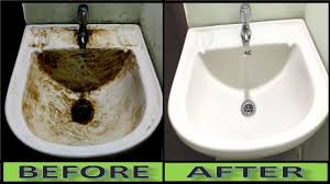 how to turn dirty wash basin sink into pure white at home ceramic porcelain sink cleaning