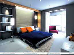 Amazing Gray And Orange Bedroom Design Features Cool Brow Chest Of