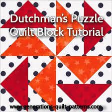 Dutchman's Puzzle Quilt Block Pattern - Step-by-Step Instructions ... & Dutchman's Puzzle quilt block instructions Adamdwight.com