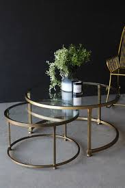 set of 2 circular circus nesting tables for elegant house round glass nesting tables remodel