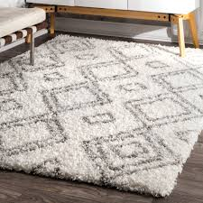 new rug 8x10 palm canyon yorba moroccan trellis white and grey 8 x 10