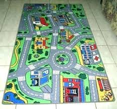 car play rug mat carpet train track kids rugs roads black and white