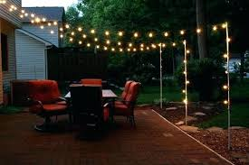 How To Hang String Lights In Backyard Without Trees Magnificent How To Hang String Lights In Backyard Without Trees Backyard Hanging