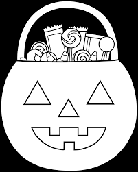 halloween candy black and white clip art. Fine Halloween Halloween Pumpkin Candy Coloring Page  Sweet Clip Art Png Transparent  Library Throughout Black And White L