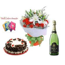 order holi gulal with cake