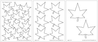 Small Picture Leaves Printable Templates Coloring Pages FirstPalettecom
