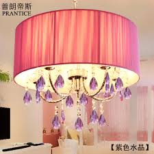 get ations otis contadino prang purple crystal chandelier cozy bedroom lamp led lamps lighting romantic princess house