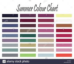Color Chart For Summer Type Woman For Clothes And Makeup