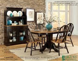 Brooks Furniture Dining Room Casual Oak Medium Oak And Black Finish