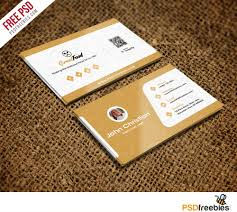 Free Sample Business Cards Templates Restaurant Chef Business Card Template Free PSD Card Templates 5