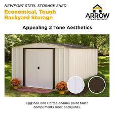arrow newport 10 ft w x 8 ft d 2 tone