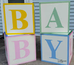 Remarkable Ideas Baby Shower Blocks Dazzling Design ABC My Repurposed Life