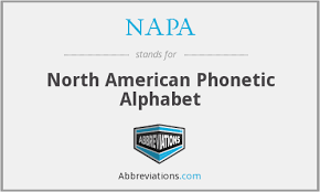 The symbol from the international phonetic alphabet (ipa), as used in phonetic transcriptions in modern dictionaries for english learners — that is it does not list all the possible sounds in american or british english. Napa North American Phonetic Alphabet