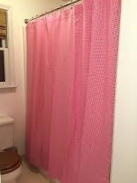 a pottery barn kids pink green striped cotton shower curtain gingham shower curtain pottery barn uni
